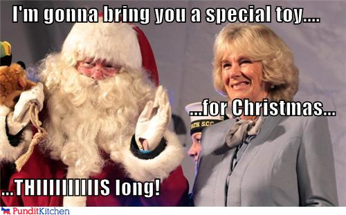 political pictures - I'm gonna bring you a special toy.... ...for Christmas... ...THIIIIIIIIIIS long!