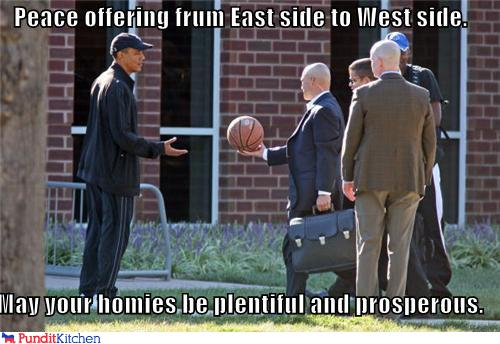 political pictures - Peace offering frum East side to West side.  May your homies be plentiful and prosperous.