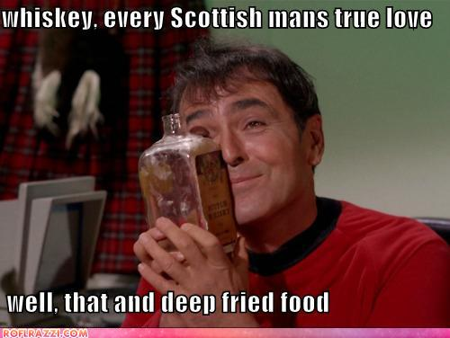 funny celebrity pictures - whiskey, every Scottish mans true love   well, that and deep fried food