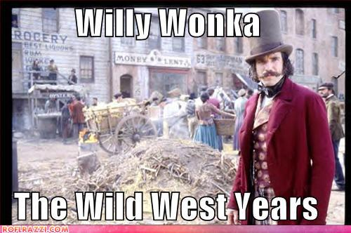 funny celebrity pictures - Willy Wonka  The Wild West Years