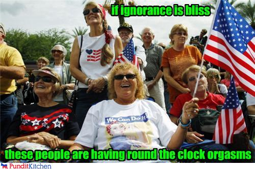 political pictures - if ignorance is bliss
