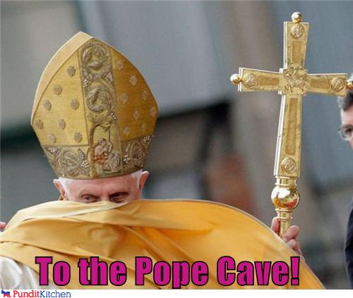 political pictures - To the Pope Cave!