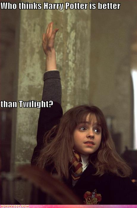 funny celebrity pictures - Who thinks Harry Potter is better than Twilight?