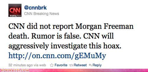 Celebrity Pictures - Morgan Freeman Tweet