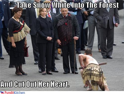 political pictures - Take Snow White Into The Forest  And Cut Out Her Heart.