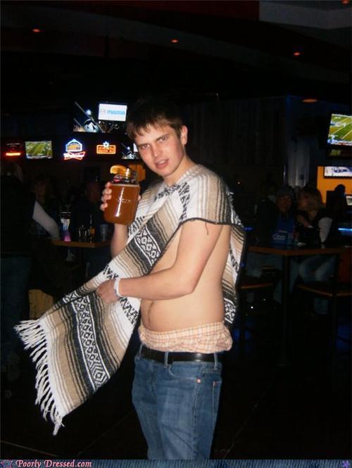 fashion fail - Ok Poncho, Put a Shirt On