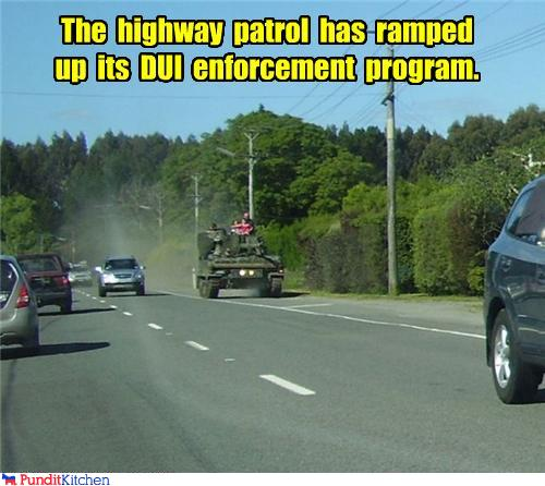 political pictures - The cars of drunk drivers will be blown up.