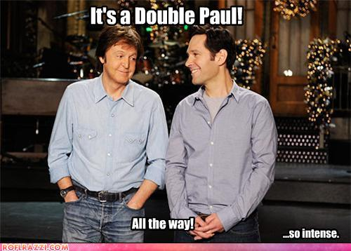 funny celebrity pictures - It's a Double Paul!