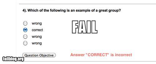 Hilarious multiple choice questions
