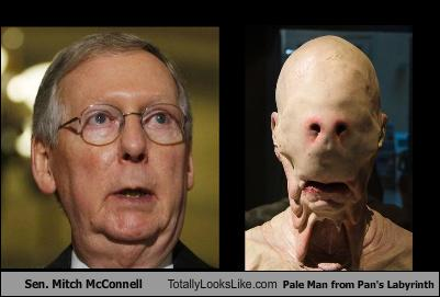 "Sen. Mitch McConnell Totally Looks Like Pale Man from ""Pan ..."