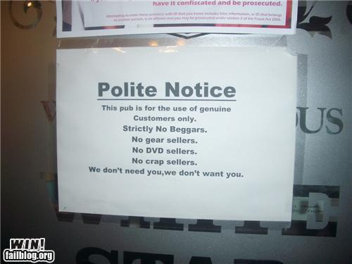 Polite Notice Win Randomoverload