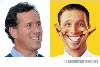 Rick Santorum Totally Looks Like Fake Smile Guy ...