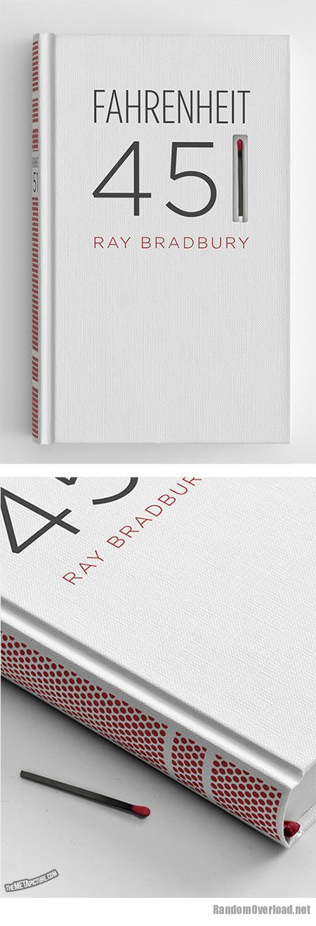 Book Cover Design Org ~ Fahrenheit book design that can be set on fire