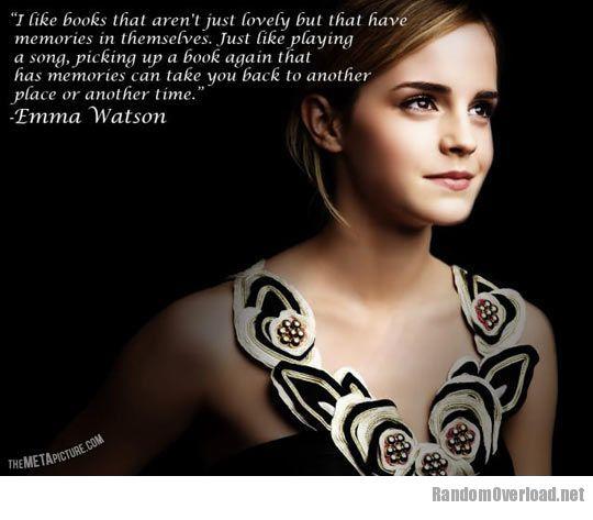 Emma Watson On Books Randomoverload
