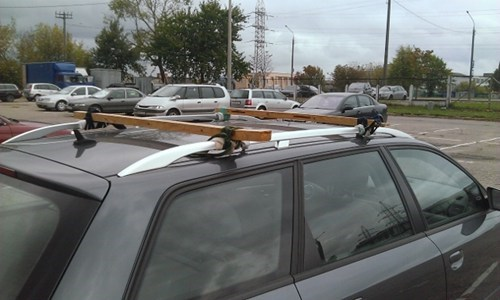 Attractive Submitted By: Serge Tagged: Cars , Wood , Funny , There I Fixed It , Roof  Rack , DIY