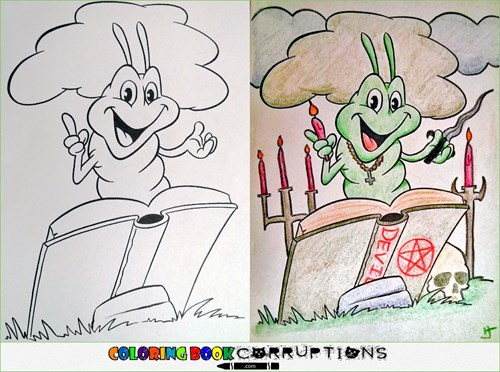 single topic blog of the day coloring book corruptions takes the wholesome and makes it dirty - Dirty Coloring Books
