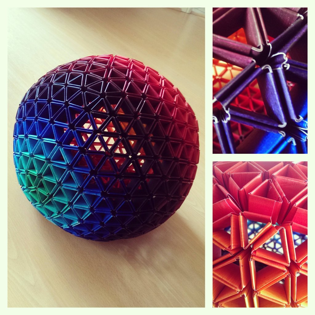 My geodesic sphere - no glue, all painted paper ... - photo#24