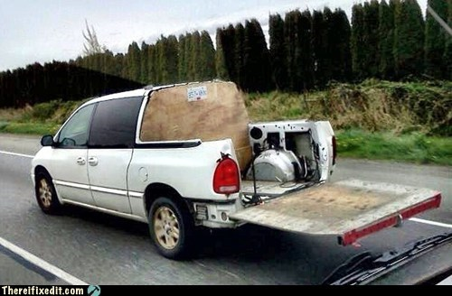 Minivan With Truck Bed