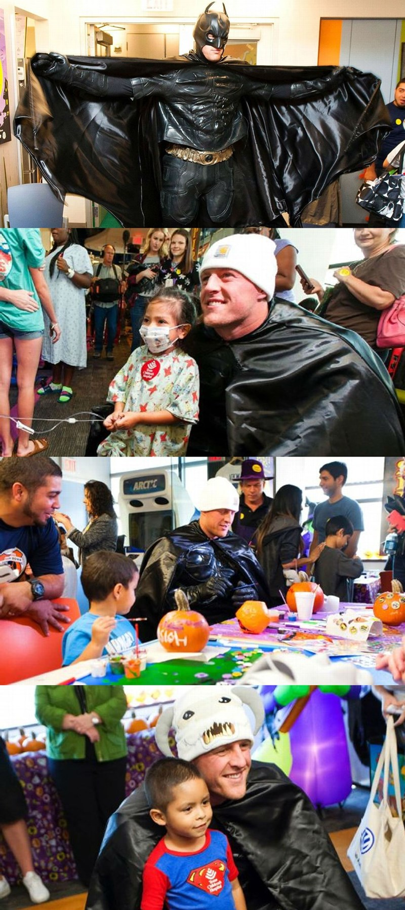 batman superheroes Texans' J.J. Watt Surprised Kids in a Hospital as Batman