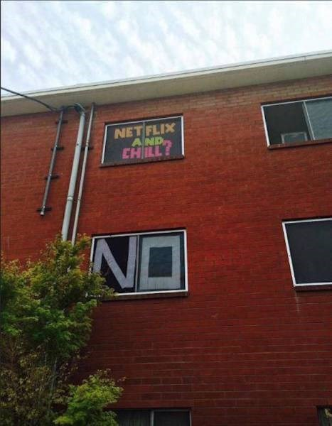 funny memes netflix and chill in the window