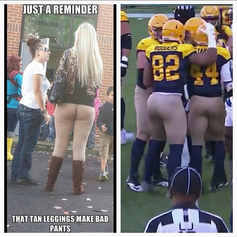 funny memes football tan pants look naked