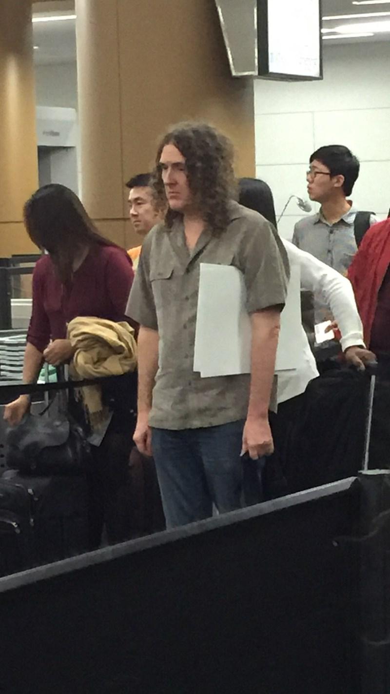 funny memes sad al weird al at the airport