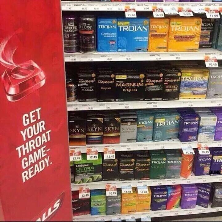 funny memes condoms and cough drops