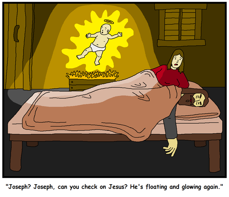 web comics jesus Why Don't You Check on Him, Mary. He's YOUR Son