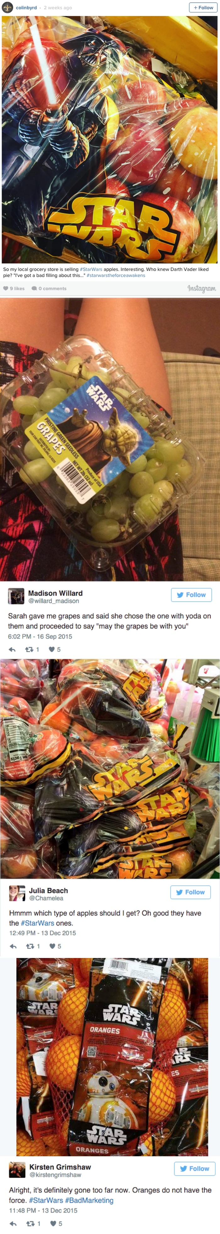 funny fail images twitter users rebel against star wars branded fruits