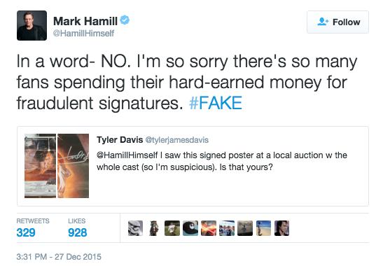 star wars,list,celeb,autographs,Mark Hamill