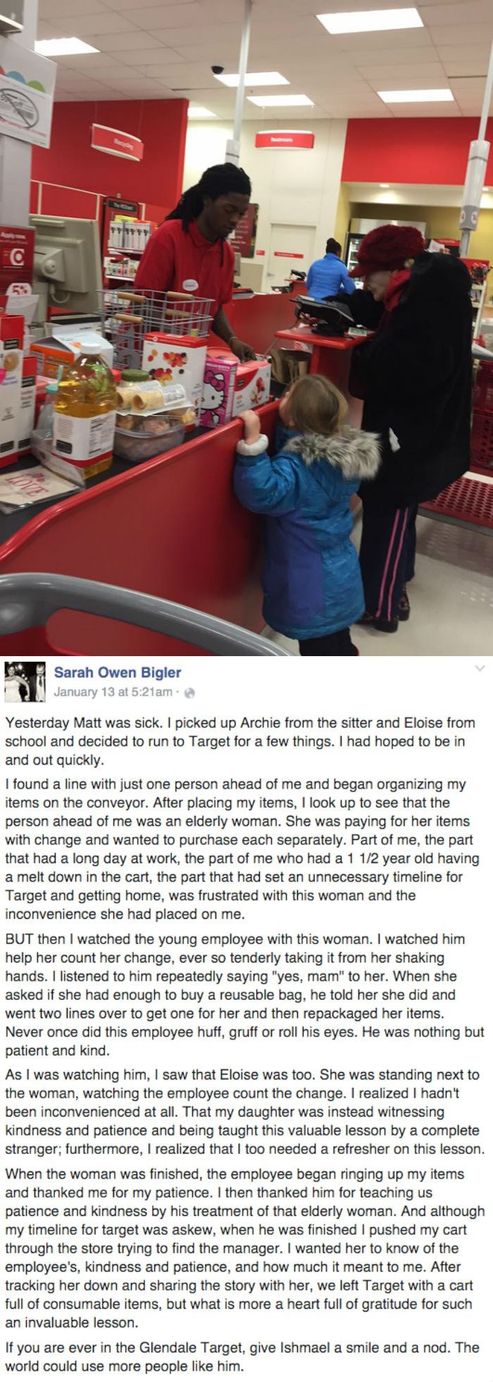 heartwarming parenting image mother tells story of patience from Target employee