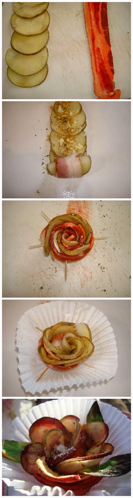 rose,DIY,food,bacon