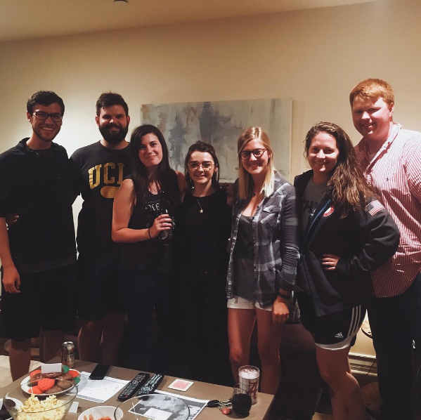 Game of Thrones,Maisie Williams,Party,snacks,UCLA,fans