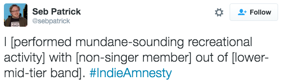 Music,twitter,secrets,indie,amnesty