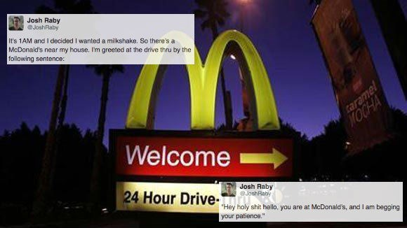 customer service,FAIL,list,McDonald's,food