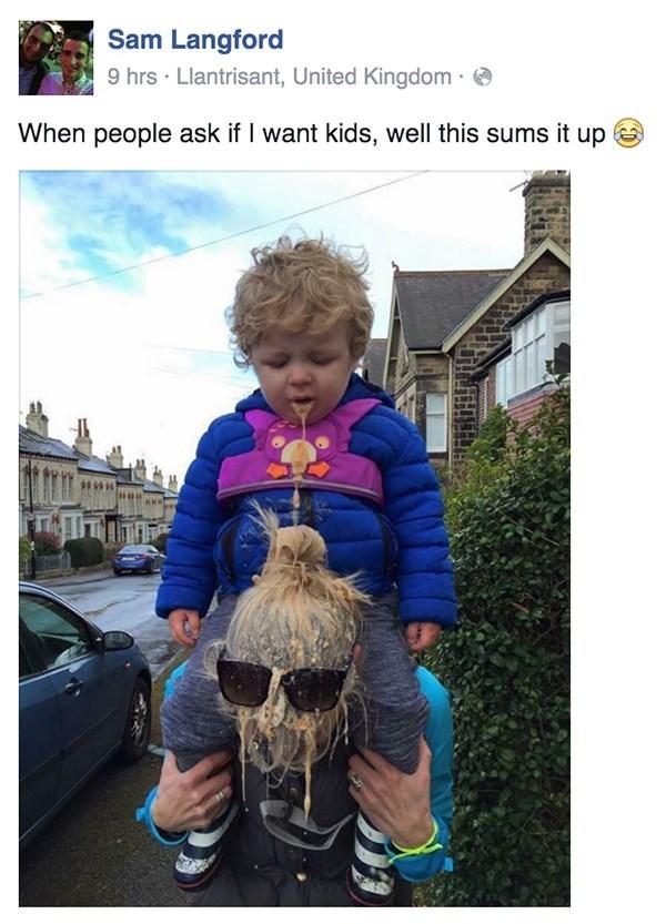 Babies,puke,parenting,facebook