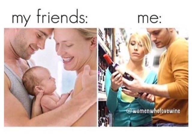 friends,wine,parenting