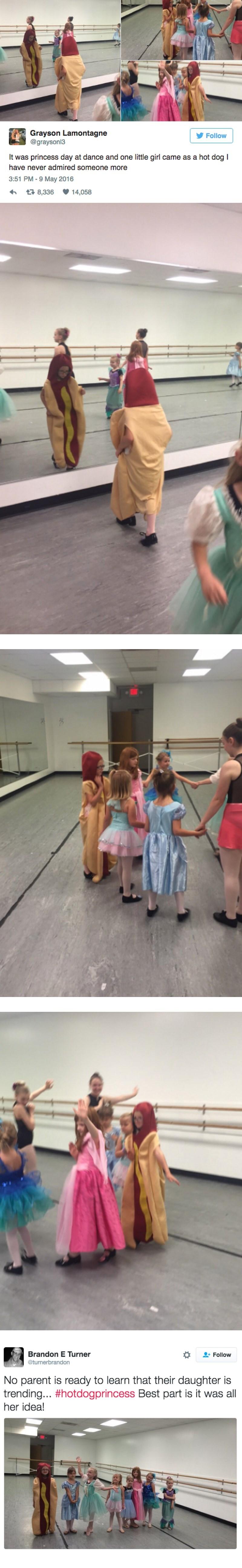 princess,hot dog,twitter,parenting,dance
