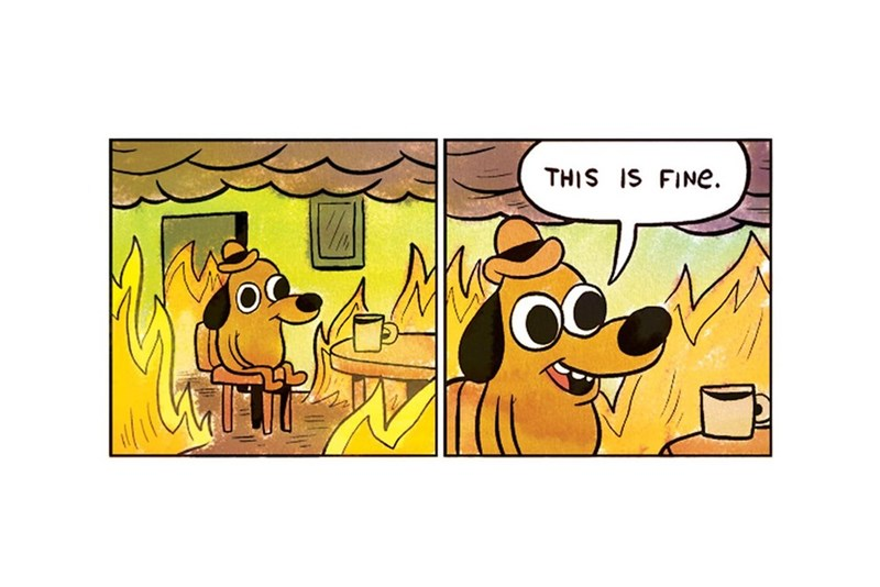"image web comics memes 2016 Is Going So Poorly That We Broke The ""This Is Fine"" Dog Meme"